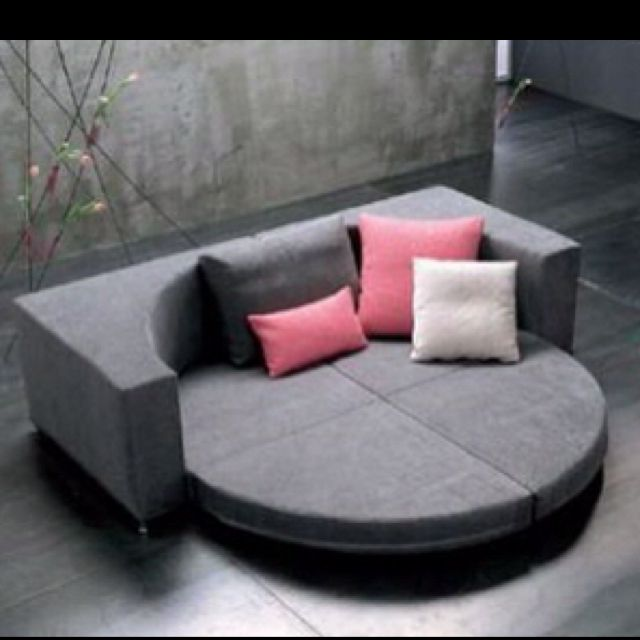 Round couch bed Too cool! (With images) | Round sofa, Best so