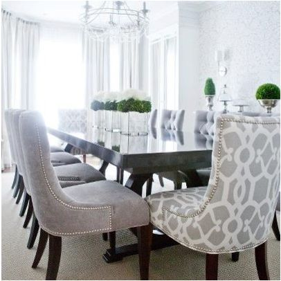Custom Upholstered Dining Chairs Design Ideas, Pictures, Remodel .