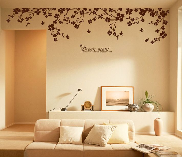 Butterfly Vine Wall Decals | Wall decor stickers, Wall decor, Home .