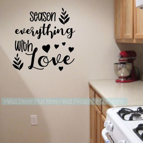 Wall Decals For Kitchen Season Everything With Love Home Decor .
