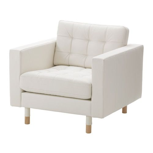Furniture and Home Furnishings   White leather chair, Ikea .
