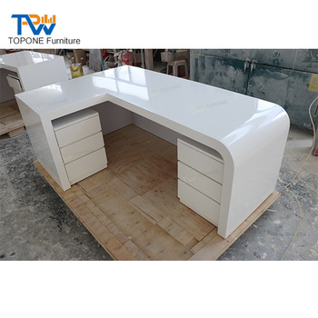 L Shaped White Office Furniture Executive Office Table Design .