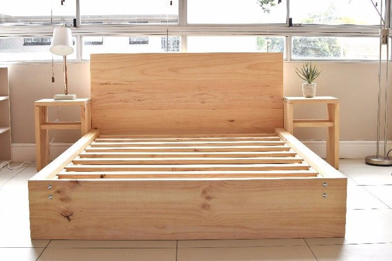 Solid Wooden Pine Bed Frames | High Quality | Single, 3/4, Double .