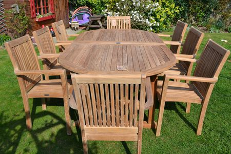 A Great Set Of Wooden Patio Furniture Brings Comfort And Style To .