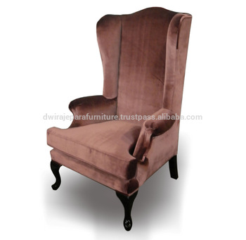High Back Wing Chair Wooden Furniture - Classic Furniture .