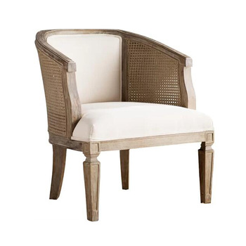 French living room cane wooden arm chair, View cane chair, MRS .