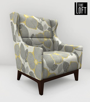 Second Life Marketplace - The Loft Canson Armchair Grey Yell