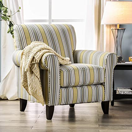 Amazon.com: HOMES: Inside + Out Hamlin Arm Chair, Yellow: Kitchen .