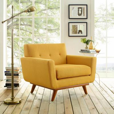 MODWAY Engage Upholstered Armchair in Citrus EEI-1178-CIT - The .