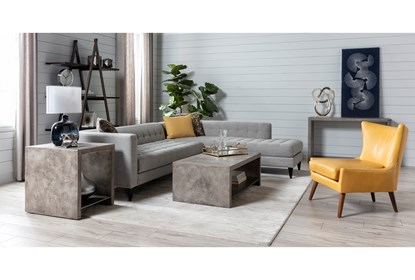 Tate III Leather Accent Chair | Living Spac