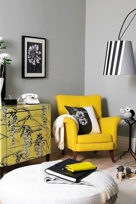 Sunny Yellow and White Decorating Ideas Inspired by Spring Flowe
