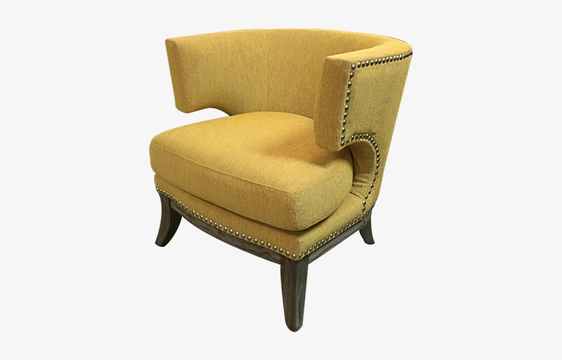 New Barrel Back Nail Head Trim Bumble Bee Yellow Upholstered .