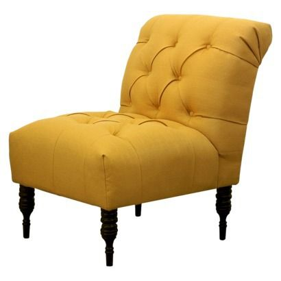 Vaughn Tufted Slipper Chair - French Yellow (living room accent .