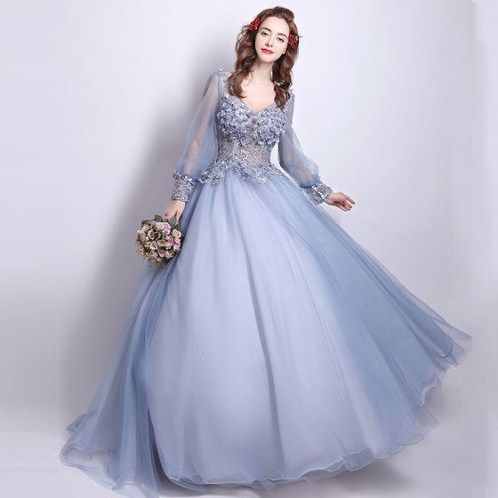Affordable Prom Dresses 2017 Lace Beading Appliques Flower .