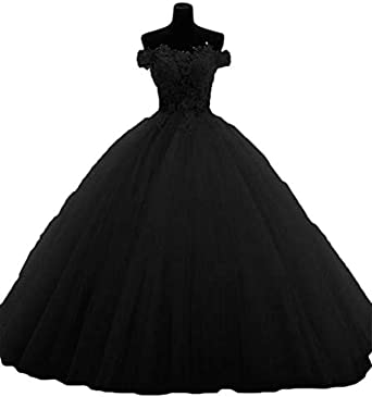 Topashe Women's Lace Applique Tulle Ball Gown Princess Quinceanera .