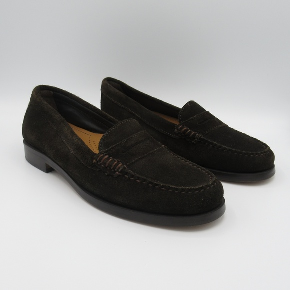 Bass Shoes | Brown Suede Penny Loafers 6 Never Worn | Poshma