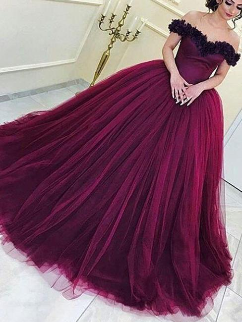 Beautiful Prom Dresses Ball Gown Floor-length Sexy Prom Dress .