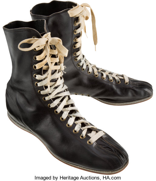 1950's Archie Moore Worn Boxing Shoes.... Boxing Collectibles .