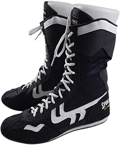 Amazon.com | Sport Pioneer High Top Boxing Shoes Boxer Boots for .