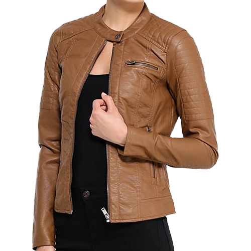 Brown Soft Leather Jacket For Women - Leather Jackets U