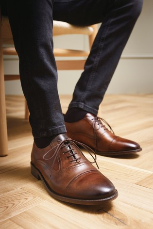 Buy Brown Leather Toe Cap Oxford Shoes from Next U