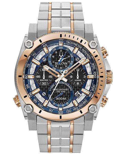 Bulova Men's Chronograph Precisionist Two-Tone Stainless Steel .