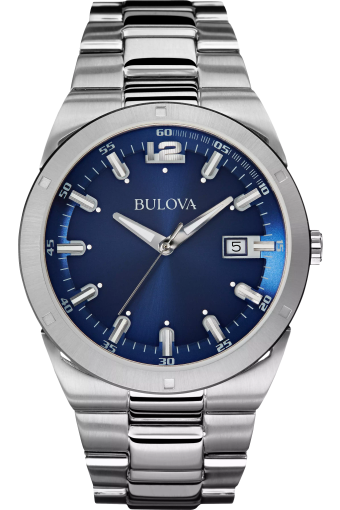 Bulova Classic Men's Blue Dial Classic Stainless Steel Watch   Bulo