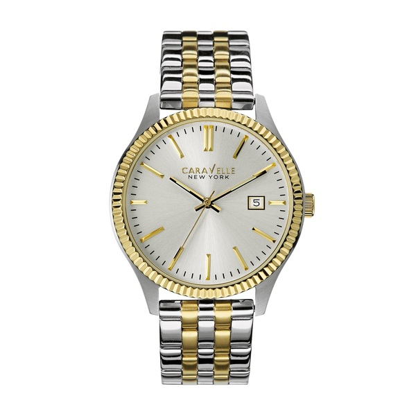 Caravelle New York Watch By Bulova Stainless Steel Two To