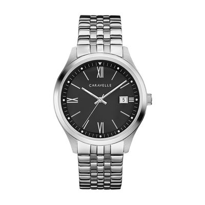 Men's Caravelle by Bulova Watch with Black Dial (Model: 43B15