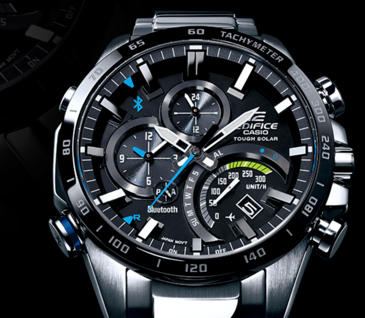 The Casio Edifice EQB501 takes a licking, connects to your .