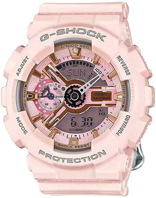 Amazon.com: Casio G-Shock Gold and Pink Dial Pink Resin Quartz .