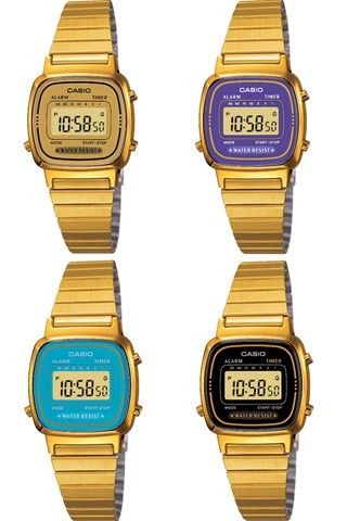 NEW Gold Casio Watch Ladies Mini EXTRA colours WOW | Casio watch .