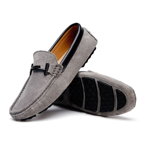 China Slip on Casual Shoes for Men, Breathable Leather Loafers .