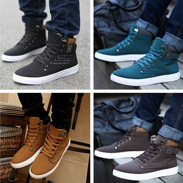 Men's Sneakers Comfortable Casual Shoes Canvas Boots Fashion Shoes .