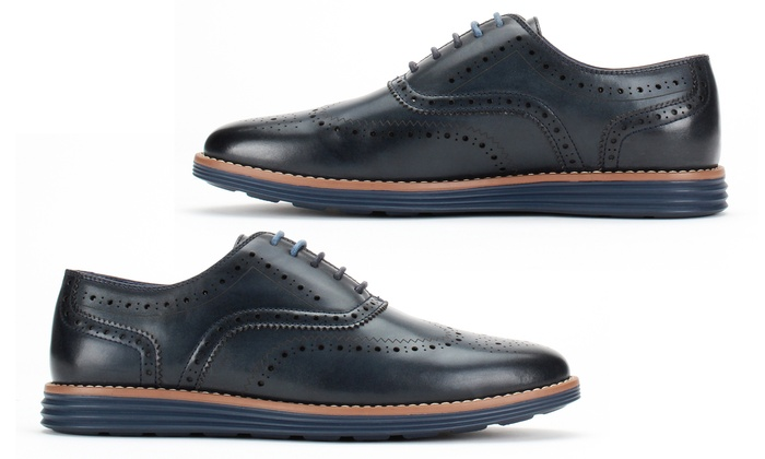 Up To 62% Off on Men's Wingtip Oxford Shoes | Groupon Goo