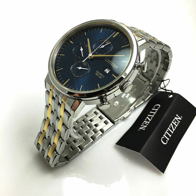 Men's Citizen Chronograph Two Tone Steel Watch AN3614-54L for sale .