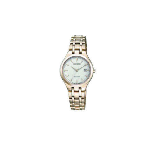 NEW Citizen Ladies Watch Rose Stainless Steel Eco-Drive Watch .