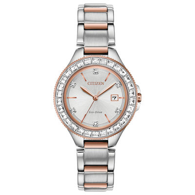Ladies' Citizen Eco-Drive® Silhouette Crystal Accent Two-Tone .
