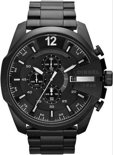 Round Casual Watches Diesel Black Dial Men's Watch, for Daily .