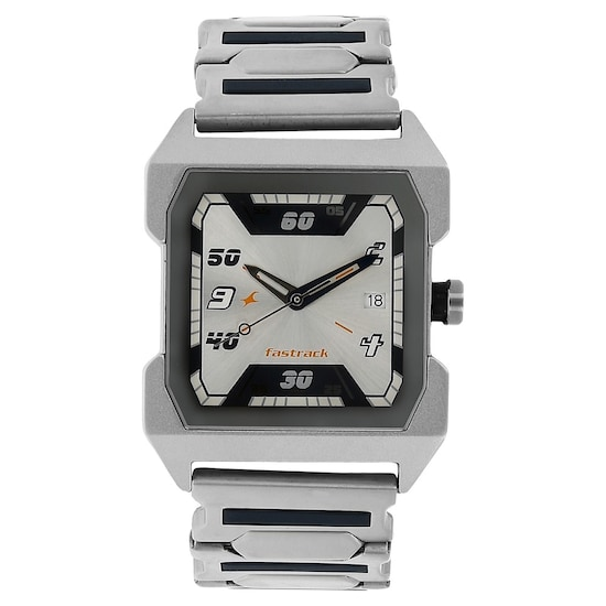 Buy Fastrack Silver Special Dial Stainless Steel Strap Analog .