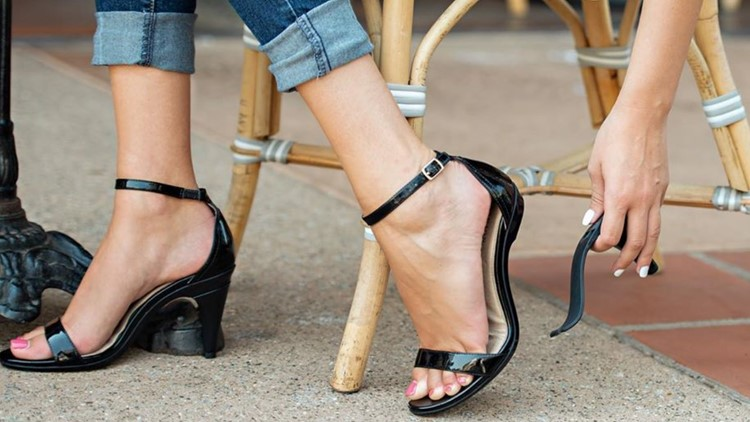 High-heel shoes that convert to flats (once a dream) is now a .