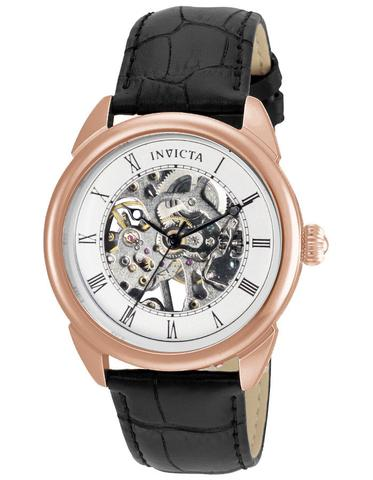INVICTA Specialty Mens Skeleton Watch - Rose Gold-Tone - Black .