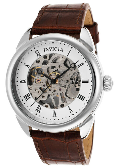 Invicta 17185 42mm Specialty Mechanical Analog Skeleton Dial Brown .