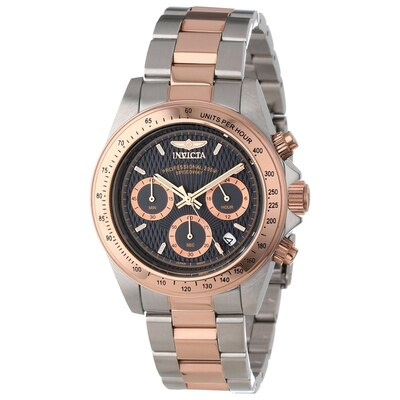 Men's Invicta Speedway Chronograph Two-Tone Watch with Black Dial .
