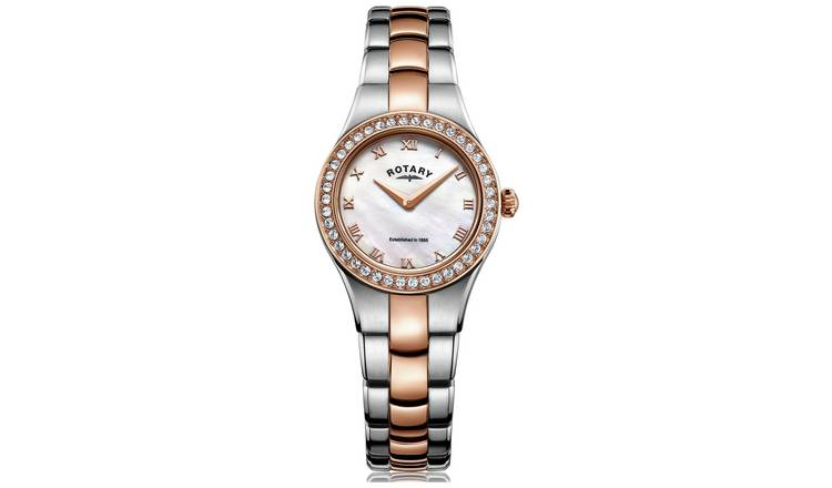 Buy Rotary Ladies Rose Two Tone Stainless Steel Watch | Womens .