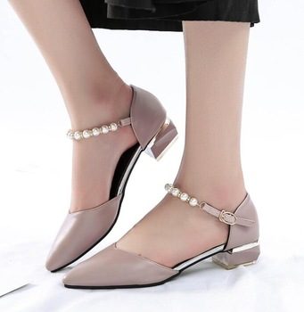 cy11307a Korea style ladies shoes 2017 summer thick heel women .