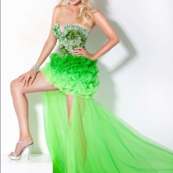 Jovani Dresses | High Low Lime Green Ombre Prom Dress 172201 .