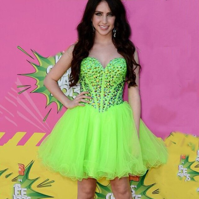 Prom Dresses Short in Lime Green – Fashion dress