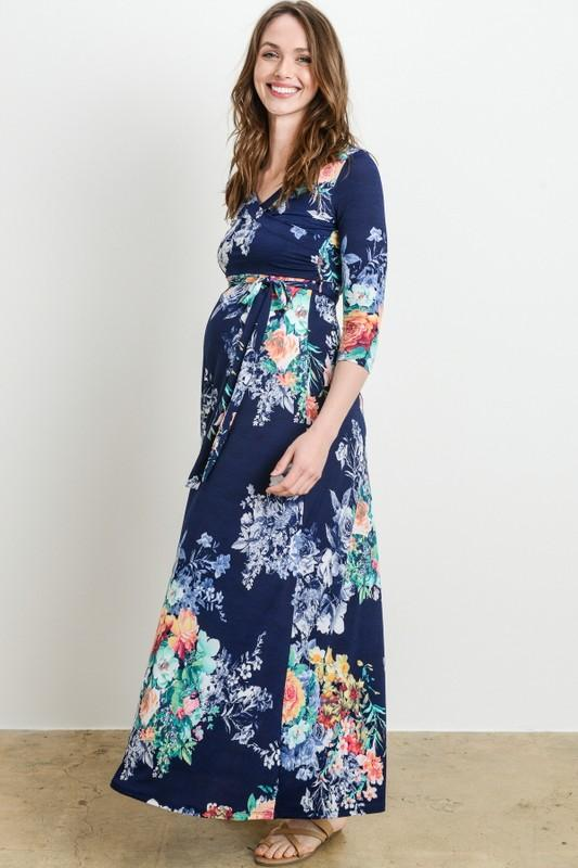 Floral Long Sleeve Maxi Dress – For All of Maternity L