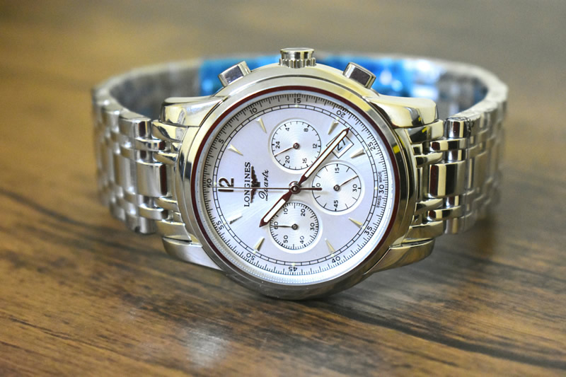 Longines gents saint-imier automatic chronograph stainless steel wat
